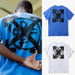 109936 그래피티 서클 에로우 라운드넥 반팔 티셔츠