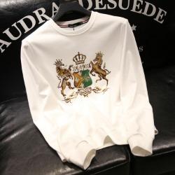 110170 로얄 크라운 쉴드 프린팅 라운드넥 맨투맨 티셔츠