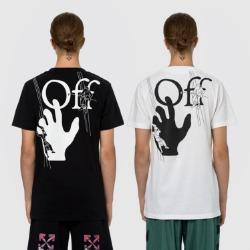 109927 핑거 드로잉 라운드넥 반팔 티셔츠