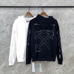 110043 뱅크 에로우 라인 프린팅 후드 티셔츠