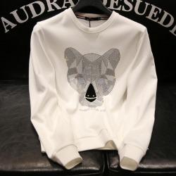 110174 지오메트릭 라이온 라운드넥 맨투맨 티셔츠