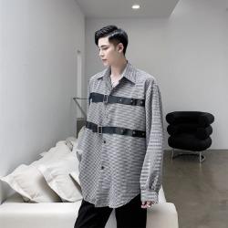 110101 체스트 벨트 라인 포인트 긴팔 셔츠