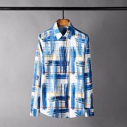 109754 유니크 스트라이프 슬림 캐주얼 긴팔 셔츠
