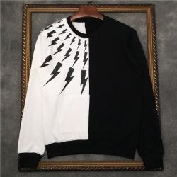 110233 썬더 하프 배색 라운드넥 맨투맨 티셔츠