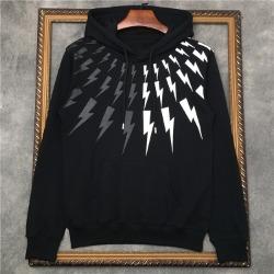 110238 썬더 하프 배색 후드 티셔츠