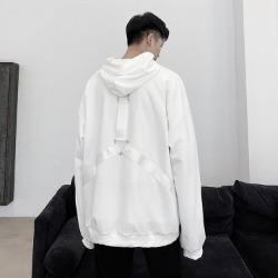 110278 벨티드 로프 포인트 오버핏 후드 티셔츠