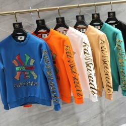 110200 B 뉴욕 레인보우 프린팅 라운드넥 맨투맨 티셔츠