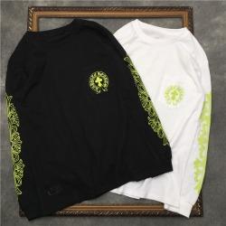 110230 네온 백 레터링 프린팅 라운드넥 맨투맨 티셔츠