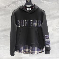 110351 레이어드 체크 포인트 후드 티셔츠 (Black)