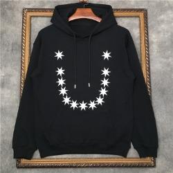 110232 스타 스마일 프린팅 후드 티셔츠