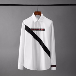 110223 사선 절개라인 포인트 히든버튼 긴팔 셔츠