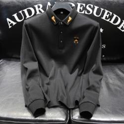 110342 라파예트 자수 PK 맨투맨 티셔츠 (Black)