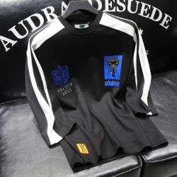 110201 라파예트 어깨 배색 라인 7부 라운드넥 티셔츠