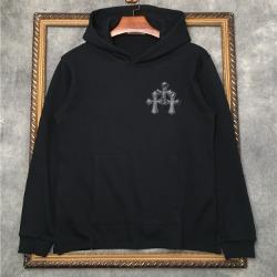 110236 트리플 크로스 레더패치 후드 티셔츠