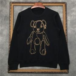 110361 스티치 베어 라운드넥 맨투맨 티셔츠(Black)