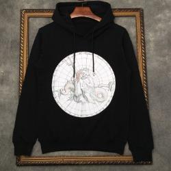 110237 서클 포세이돈 프린팅 후드 티셔츠