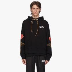 110300 고딕 로즈 소매 프린팅 후드 티셔츠
