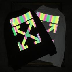 110367 홀로그램 에로우 라운드넥 맨투맨 티셔츠(2Color)