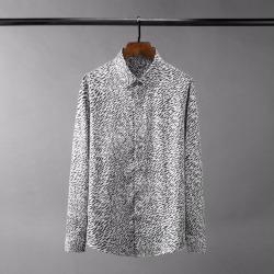 110422 미니멀 지브라 히든버튼 긴팔 셔츠(White)