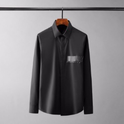 110417 체스트 백숄더 바코드 긴팔 셔츠(2Color)