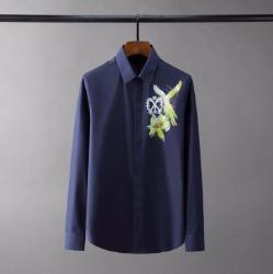 110431 솔리드 로얄 버드 히든버튼 긴팔 셔츠(4Color)