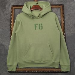 110439 데일리 양털 로고 기모 후드 티셔츠(2Color)