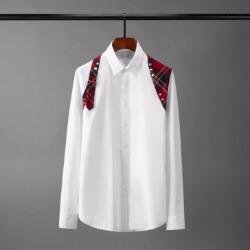 110415 스터드 타탄체크 배색 긴팔 셔츠(2Color)