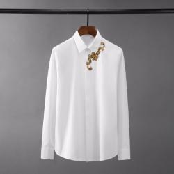 110430 고져스 로얄 자수 히든버튼 긴팔 셔츠(2Color)