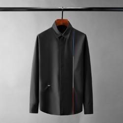 110570 삼색 라인 허니비 히든버튼 긴팔 셔츠(2Color)