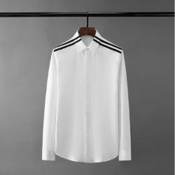 110565 더블 라인 히든버튼 긴팔 셔츠(2Color)