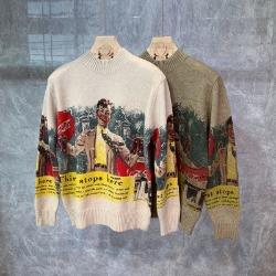 110721 뉴욕 그래피티 반폴라 니트 스웨터(2Color)