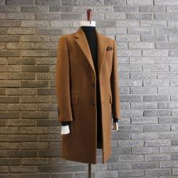 110680 토니 알파카 싱글 코트(Brown)