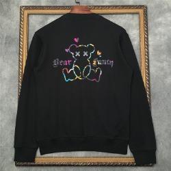110819 레인보우 베어 프린팅 기모 맨투맨 티셔츠(2Color)