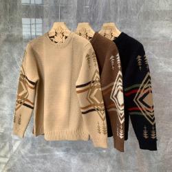 110717 고져스 크로스 패턴 울 니트 스웨터(3Color)