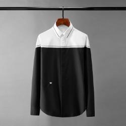 110568 허니비 숄더 배색 히든버튼 긴팔 셔츠(2Color)