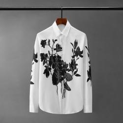 110563 블랙 로즈 프린팅 긴팔 셔츠(White)