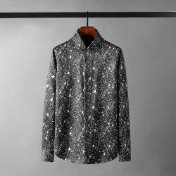 110572 스타 트랙 히든버튼 긴팔 셔츠(Black)