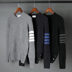 110674 지오메트릭 꽈베기 사선완장 스웨터 니트(3Color)