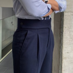 110995 나폴리 구루카 카브라 핀턱 팬츠(Navy)