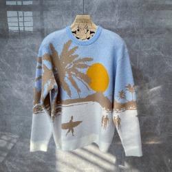 111007 서퍼 비치 울 니트 스웨터(Blue/100)