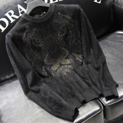 110880 재규어 프린팅 니트 스웨터(Black)