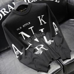 110936 NL 알파벳 자가드 니트 스웨터(Black)