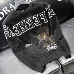 110941 자가드 레터링 타이거 니트 스웨터(Black)