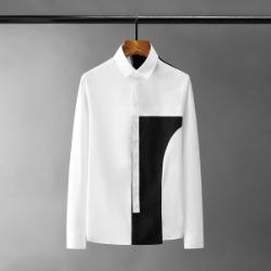 110987 솔리드 레이어드 배색라인 긴팔 셔츠(2Color)
