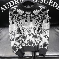 110946 플라워 크라운 니트 스웨터(Black)