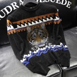 110918 ED 타이거 자가드 니트 스웨터(Black)