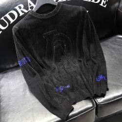 110904 LA 체스트 패치 니트 스웨터(Black)