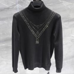 110883 플렉스 비죠 프린팅 목폴라 니트 스웨터(Black)