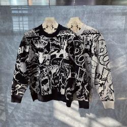 111005 지오메트릭 드로잉 니트 스웨터(2Color)