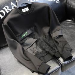 110914 멀티 포켓 네오프렌 기모 티셔츠(Black)